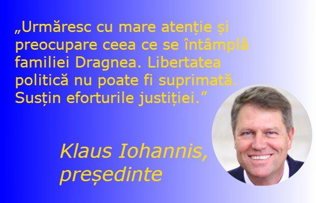 Klaus Iohannis îl compătimește pe Liviu Dragnea